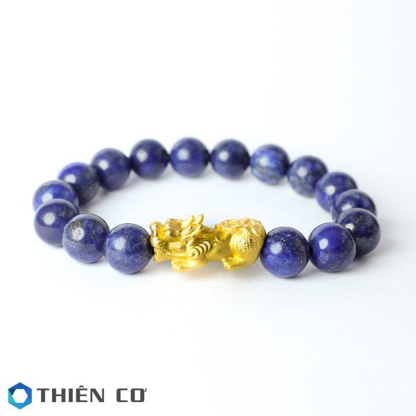 vong tay phong thuy da Lapis Lazuli 8 ly charm ty huu